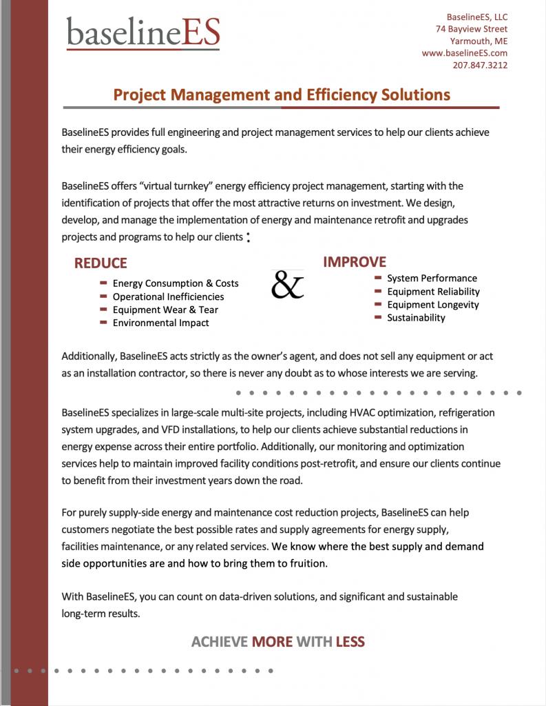 Energy Efficiency Brochure