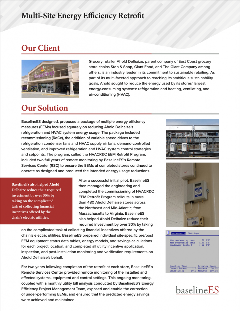 Multi-Site Energy Efficiency Retrofit